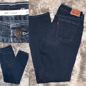 Levi's 505 Straight Size 4 Dark Wash Straight Leg